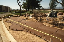 new concrete walkway project
