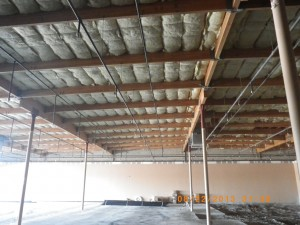 World's Gym in Victorville CA - ceiling work